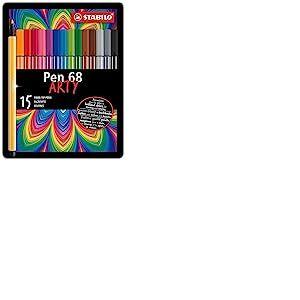 Stabilo Pen 68 Boîte métal de 15 feutres