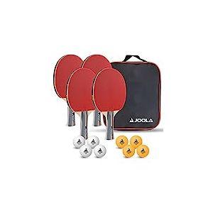 JOOLA TEAM SCHOOL Set de tennis de table - 4 raquettes/8 balles