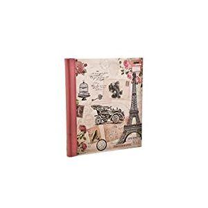 ARPAN Album Photo, Auto-adhésif, Motif rétro Chouette, Rose, 19 x 27,5 cm