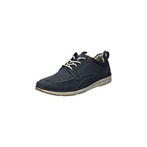 Clarks Orson Bay, Sneakers Basses Homme, Bleu (Navy Nubuck-), 44.5 EU