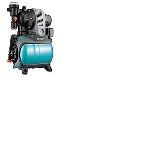 Gardena Groupe de Surpression 3000/4 Eco Classic: Pompe à Eau Domestique avec Protection Thermique, Clapet Anti-Retour, Démarrage / Arrêt Automatique, Puissance 650W, Débit Max. 2800 L/H (1753-20)