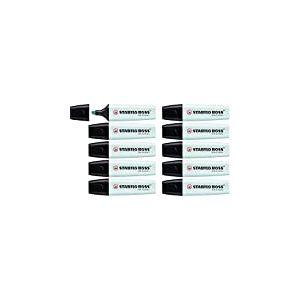 Surligneur - STABILO BOSS ORIGINAL Pastel - Lot de 10 surligneurs - Touche de turquoise