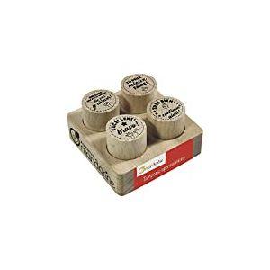 Avenue Mandarine - CO157C - Collection Maîtresse - Set de 4 Tampons - Appréciation Motif Texte