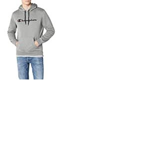 Champion Classic Logo Sweat-Shirt àCapuche, Gris (Oxgm), Small (Taille Fabricant: S) Homme