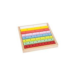 """small foot 10846 Fractions """"Educate"""" en bois, avec des pierres arithmétiques de différentes tailles pour explication, à partir de 6 ans"""