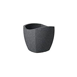 Scheurich 55361 256/50 Wave Globe Cubo Pot de Fleurs Plastique Granit Noir 50 x 50 x 45 cm