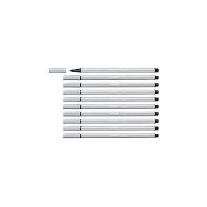 Feutre de dessin - STABILO Pen 68 - Lot de 10 feutres pointe moyenne - Gris clair (68/94)
