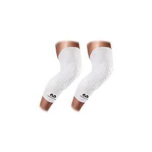 McDavid 6446, Molletière avec protection Hex 6446 Mixte, Blanc, XL