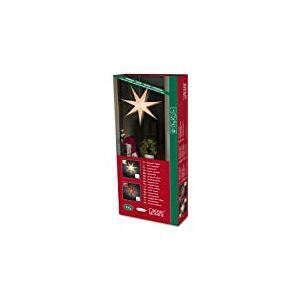 Konstsmide 2990-520 Étoile en Papier Perforé Livré avec Interrupteur sans Lampe Rouge Câble Blanc