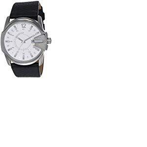 Diesel - DZ1405 - Montre Homme - Quartz Analogique - Cadran Blanc - Bracelet Cuir Blanc