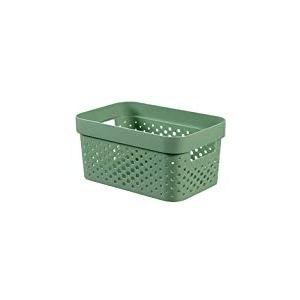 CURVER | Bac Infinity 4,5L Dots - Plastique recyclé, Vert, Crates, 26x17,5x12,3 cm