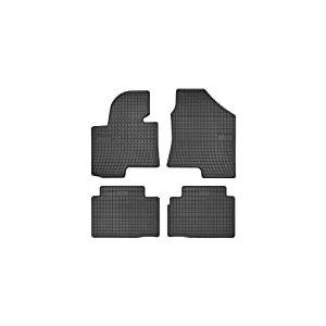 Hyundai Tapis Auto en Caoutchouc - sur Mesure - Tapis de Sol pour Voiture - 4 Pièces - Caoutchouc Haute Qualité - Inodore - Antidérapant - Rebords Surélevés - 1765887