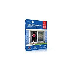 Moustiquaire ajustable aimantée TRANQUILISAFE® pour baie vitrée avec 2 ouvertures aimantée - moustiquaire magnétique - moustiquaire automatique - protection anti moustique (L 180 - H 216/224)