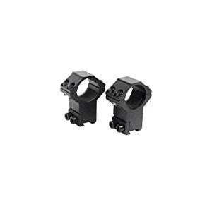 ASG Strike Systems Anneaux de Montage pour Lunette de visée 25.4x20x11 mm Adulte Unisexe, Noir, Taille unique