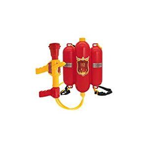 Idena 8040009 – Lance à Eau Pompiers, Taille env. 40 cm avec buse réglable, réservoir d'eau et bandoulière, Bataille d'eau, été, fête de Jardin, Pistolet à Eau, Canon à Eau, Pistolet à Eau