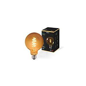 Garza Vintage Whirl - Ampoule Globe Filament Rétro LED Lumière Chaude E27 3W