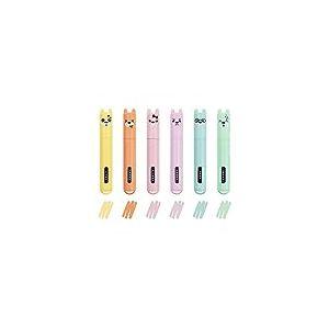 Legami - Lot de 6 mini surligneurs Teddy's Style