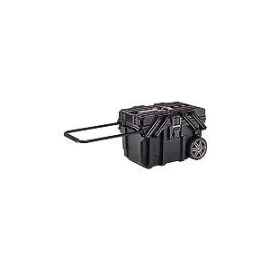 KETER | Coffre de chantier 15G, Noir, mobile, 64,6x37,3x41 cm