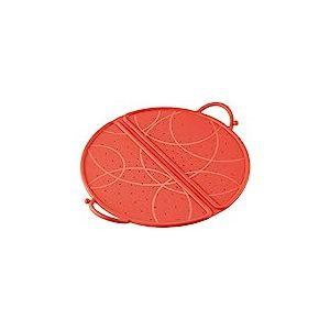 KUHN RIKON 23644 Couvercle Anti-Projections Pliable Silicone Rouge 30cm, Plastique, 30 cm