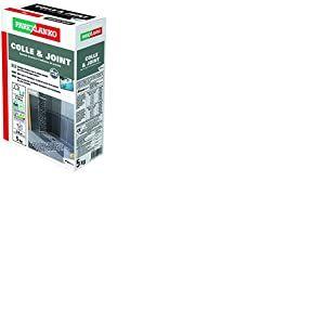ParexGroup 3208 Colle & Joint Spécial douche à italienne/piscine 5 kg Blanc