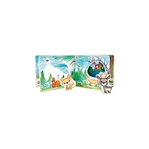 Small Foot Livre d'images pour bébé Quatre Pages et des Figurines en Bois pour Le Jeu interactif Jouets, 11234, Multicolore