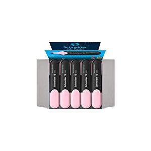 Schneider Job 150 Pastel Lot de 10 surligneurs à pointe biseautée Largeur de trait 1 + 5 mm Rose