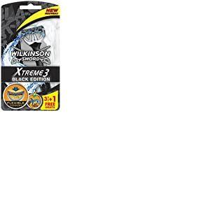 Wilkinson Sword Xtreme 3Rasoirs jetables Black Edition Lot de 3+ 1gratuit