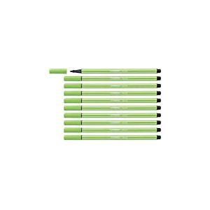 Feutre dessin - STABILO Pen 68 - Lot de 10 feutres pointe moyenne - Vert feuille (68/43)