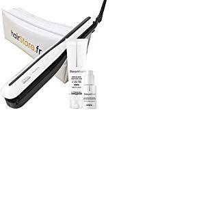 L'OREAL PROFESSIONNEL Lisseur Steampod 3.0 + Crème Cheveux Epais 150 ml + Sérum Concentré Pointes Parfaites 50 ml + Trousse de Rangement