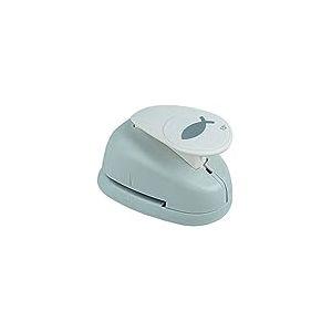 """Rayher 89854000 perforatrice fantaisie: poisson, perforeuse papier en plastique, perforatrice scrapbooking idéale pour papier/carton de jusqu€™à 200 g/m2, à˜ 3,81 cm, (1,5""""), blister-LS 1pièce, orange/gris"""