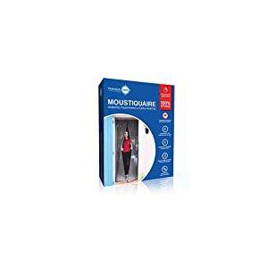 Moustiquaire ajustable aimantée TRANQUILISAFE® pour portes et portes fenêtres – moustiquaire magnétique – moustiquaire porte automatique – moustiquaire compatible chatière (L 80/96 - H 207/215)