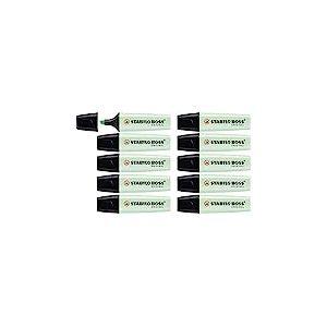 Surligneur - STABILO BOSS ORIGINAL Pastel - Lot de 10 surligneurs - Menthe à l'eau