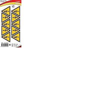 Novap - Pictogramme - Danger electrique - planche 10 pictogrammes adhesifs triangle 50 mm