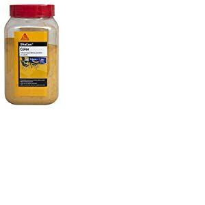 SikaCem Color, Colorant en poudre pour ciment, chaux et plâtre, 400g, Jaune
