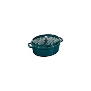 STAUB Cocotte en Fonte, Ovale 31 cm, 5,5 L, La Mer
