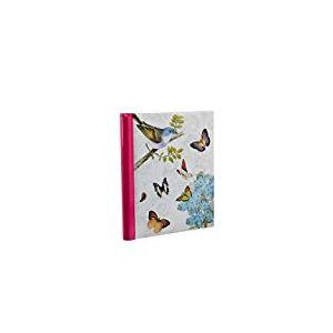 ARPAN Grand Album Photo Autocollant, Reliure à Anneaux, Motif Papillon rétro, Beige, 19 x 27,5 cm