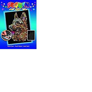 Sequin Art 8041807 Kit de Bricolage avec Cadre en polystyrène et Paillettes, Paillettes, piquets d'instructions pour Enfants à partir de 8 Ans Multicolore