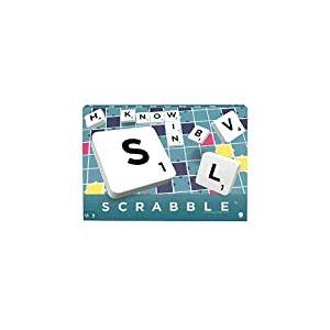 Scrabble Classique, jeu de société et de lettres, version espagnole, Y9594