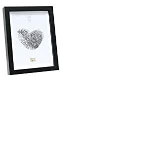 Deknudt Frames S40AK2 P1 Cadre Photo Basic avec Passe Partout Moulure Haute en Bois/MDF Noir 15 x 20 cm