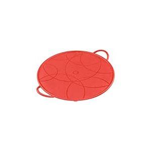 KUHN RIKON 23631 Couvercle Anti-Projections Silicone Rouge 26cm, Plastique, 26 cm