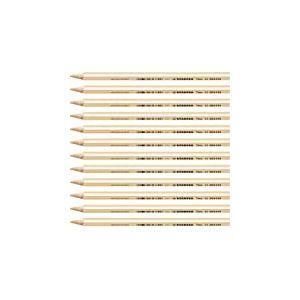 STABILO Trio thick - Lot de 12 crayons de couleur triangulaires - Chair clair