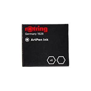 Rotring Cartouches d'encre spéciale Noir Lot de 6