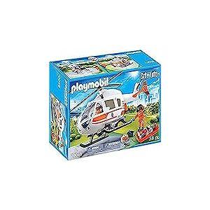 Playmobil 70048 City Life Helicoptère de Sauvetage Multicolore