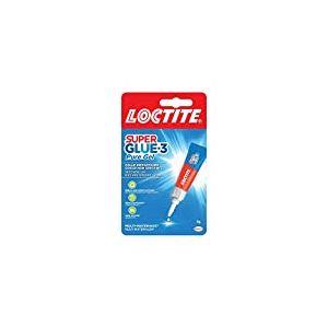 Loctite Super Glue-3 Power Easy, colle transparente & puissante, colle forte formule gel sans odeur ne colle pas les doigt, colle repositionnable, tube de 3 g