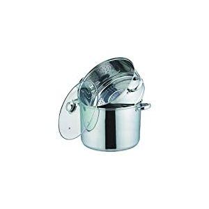 Kamberg - 0008072 - Couscoussier / Cuit Vapeur / Faitout 3 en 1 -Diamètre 26 cm - 10 Litres - Acier Inoxydable Haute Qualité - Couvercle en verre - Tous feux dont induction