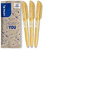 Pilot - Lot de 3 Surligneurs Fluo FriXion Light Soft - Surligneur Effaçable - Orange - Pointe Moyenne