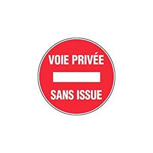 Novap - Panneau - Voie privee sans issue - Diametre 300Mm Rigide