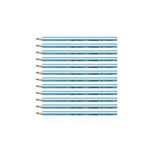 STABILO Trio thick - Lot de 12 crayons de couleur triangulaires - Bleu