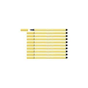Feutre dessin - STABILO Pen 68 - Lot de 10 feutres pointe moyenne - Jaune (68/44)