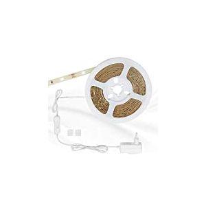Briloner Leuchten 5m bande LED, autocollant, avec interrupteur, 150x, idéal pour rétroéclairage LED/Éclairage, lumière strip, bande lumineuse, éclairage indirect, 14W, Couleur?: Blanc chaud